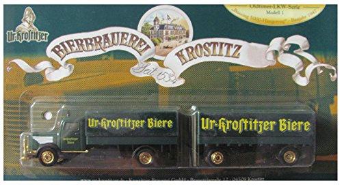 UR-KROSTITZER Nr.18 - Oldtimer Serie Modell 1 - Büssing 5000 Baujahr 1970 - Hängerzug Oldie