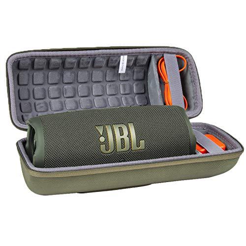 Hart Reise Schutz Hülle Etui Tasche für JBL Charge 4 / JBL Charge 5 Tragbarer Bluetooth Lautsprecher von co2CREA (Grün)