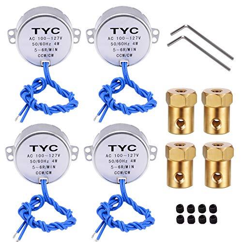 professional REENFAYA 4PCS Turntable Synchronous Motor 110V 50 / 60Hz Motor 100 ~ 127VAC 4W…