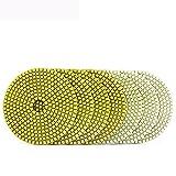 XMEIFEI PARTS 5'Almohadilla de Pulido de Diamantes húmedo 8pcs / Set Discos de molienda Flexibles de Granito Piedra Piedra de hormigón Polaco Rueda Almohadilla by