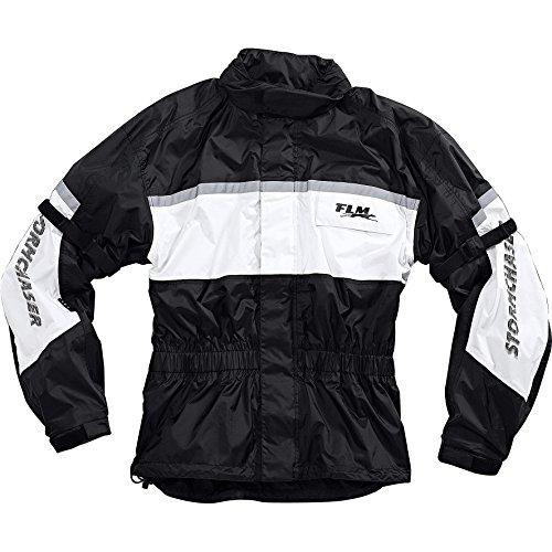 FLM Regenjacke, Regenschutz, Fahrrad Regenbekleidung Sports Membran Regenjacke 1.0, Klimamembran, Verbindungsreißverschluss, wasserdicht, Winddicht, atmungsaktiv, integrierte Helmkapuze, Weiß, XL