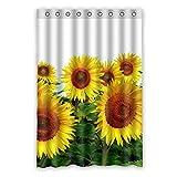Wild costumes 120 cm x 183 cm (121,9 x 182,9 cm) Badezimmer Dusche Vorhang, allgemeine Beautiful Sunflower Custom Design Casual Fashion Wasserdicht Duschvorhang, Polyester, E, 48