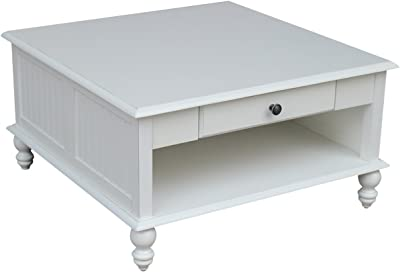 International Concepts Cottage Coffee Table, Beach White