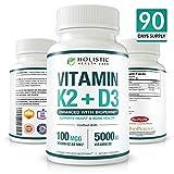Vitamin K2 + D3 90 Capsulas Vegetales de máxima absorción