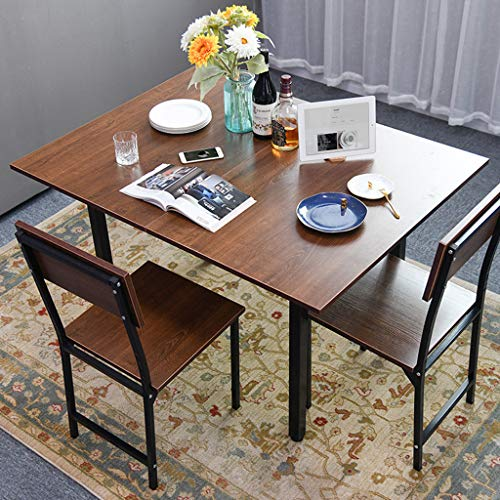 Folding Dining Table, Creative Computer Desk, Oak Industrial Style Household Flip Table, Drop Leaf Kitchen Dining Table, Rustic Console Table for Home Small Spaces (Brown, 47.2 × 35.4 × 29.5 in)