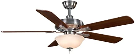 Hampton Bay Larson 52 In. Brushed Nickel Ceiling Fan by Hampton Bay