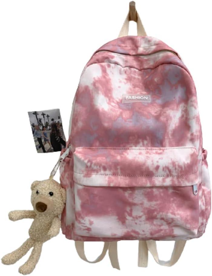 Vogury Philadelphia Mall Canvas Bear Backpack Female Outstanding Lovely Schoolbag
