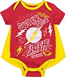 Justice League The Flash Baby Boys' Bodysuit and Cape Set, Red (6-9 Months)