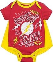 Superbe design de super héros DC avec couleurs métalliques, effet bouffant, graphismes musculaires. Encolure américaine très pratique et boutons-pression à l'entrejambe pour un enfilage facile. Cape amovible en satin avec fermeture Velcro. Parfait po...