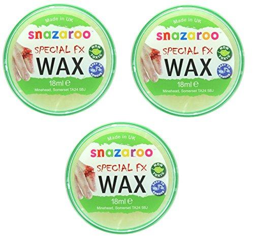Snazaroo 3 x efectos especiales de maquillaje de cera FX para Halloween 18 ml