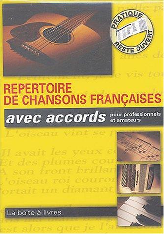 Répertoire de chansons françaises avec accords pour professionnels et amateurs