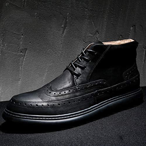 LOVDRAM Chaussures en Cuir pour Hommes Chaussures pour Hommes Nouvelle Mode Chaussures Hautes Brock Bottes en Cuir Martin pour Hommes Chaussures en Cuir pour Hommes Bottes