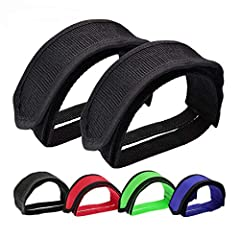 Note: This bike pedal straps are perfect for all kinds of FIXED GEAR, MOUNTAIN BIKE, ROAD BIKE, BXM. And we suggest the bicycle foot strap are suitable for ADULT bike. Material: Our bike pedal straps are made of high quality durable nylon which is su...
