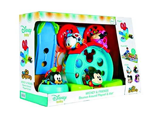 Disney bébé Mickey et ses Amis Go Grippers Cars Oball Motif et Bounce autour de Ensemble de jeu et coloré Tapis en mousse, idéal pour votre tout-petit de lecture aventure.