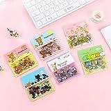 BLOUR Bear Cute Stickers Kawaii Stationary Cute Novedad Sticker Flakes Art Supplies Korean Cartoon Custom Stickers80pieces / Set