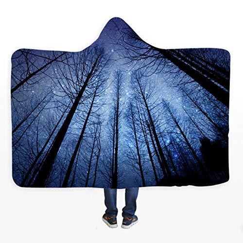 PANDAWDD deken Bosco Vista nachttafelkleed sterrenhemel deken van microvezel Sherpa van fleece, draagbaar voor reizen 150 x 200 cm
