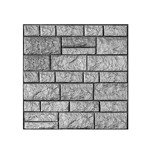 jieGorge 3D Wall Paper Brick Stone Rustic Effect Self-adhesive Wall Sticker Home Decor, Home Decor, for Christmas Day (C)