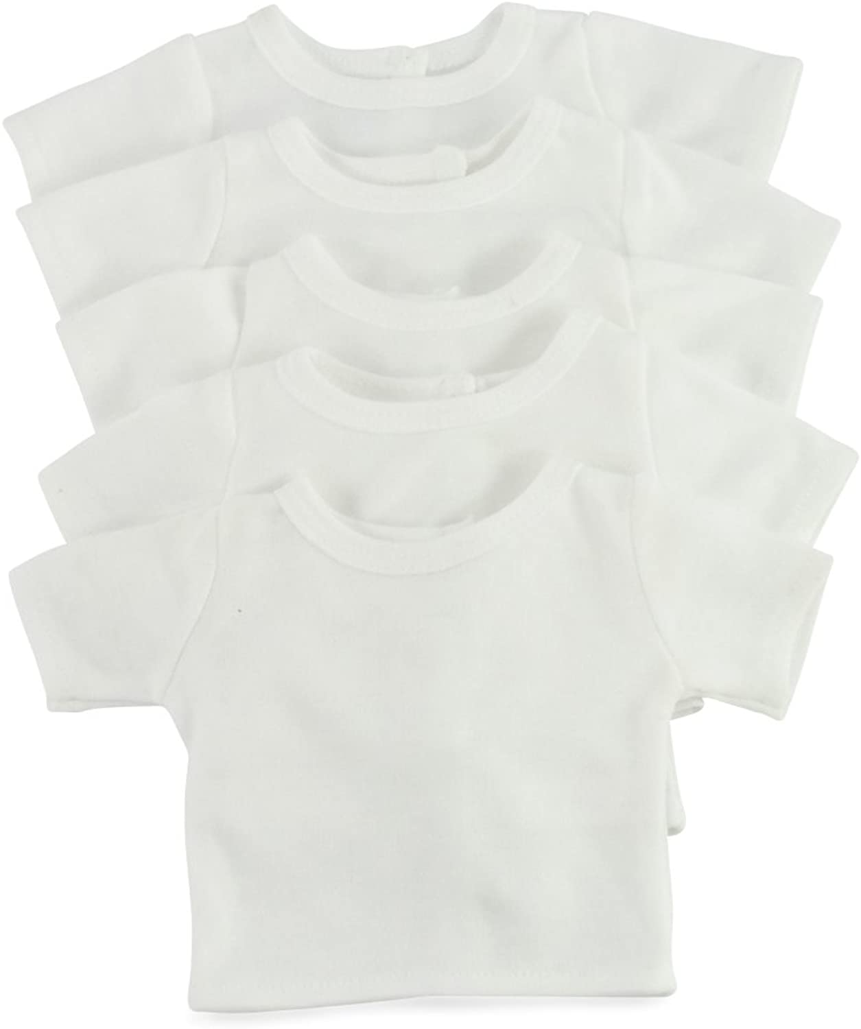 18 Inch Doll Clothes clothing Fits American Girl Dolls  Value Pack Plain White Tshirts 18  Outfit