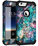 Hocase iPhone 6s Plus Case, iPhone 6 Plus Case, Shockproof Heavy Duty Protection Silicone Rubber Bumper+Hard Plastic Protective Case for iPhone 6 Plus/6s Plus (5.5' Display) - Mandala in Galaxy