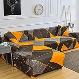 WXQY Funda de sofá elástica, Funda de sofá de Esquina en Forma de L Bien Envuelta, Funda de sofá Antideslizante y a Prueba de Polvo, combinación A11 de 2 plazas