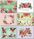 Ensemble de 48 cartes vierges avec enveloppes - Cartes de correspondance pour la douche de bébé, cartes de remerciement de mariage ou carte de remerciement
