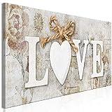 murando Cuadro en Lienzo Love 135x45 cm Impresión de 1 Pieza Material Tejido no Tejido Impresión...