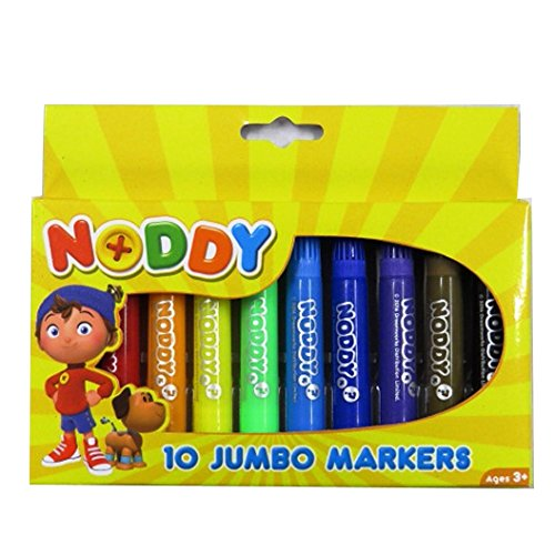 toyland crayons Noddy in Toyland Jumbo Colouring Markers, Pack of 10