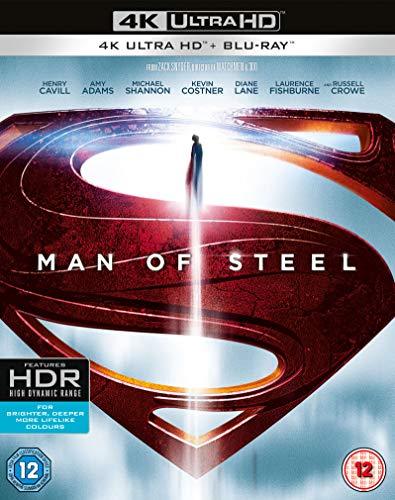 Man Of Steel (Blu-Ray 4k) [Edizione: Regno Unito] [Blu-ray]