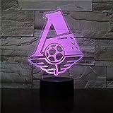 Locomotora Club de fútbol 3D LED Luz de noche Oficina Hogar Decoración de la habitación Niño Niño Luz de noche