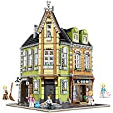 juguete LF- Bloque de construcción Vista de la Calle Próspero Serie Detective de la Calle Comercial Agencia Verde Tienda de ultramarinos Asamblea Edificio Modelo Aprender