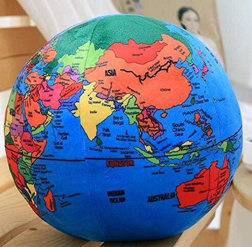 1 Simulation Earth Globe World Plush Toy Pillow Cushion Baby Doll Puzzle Gift Boy Ball Girl Gift Child Toy-24Cm_Globe
