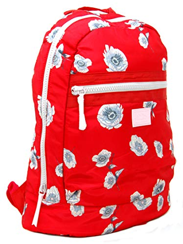 Jack Wills Polyester Backpack Rucksack Heverhill in a Red Floral Design