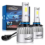 VoRock8 R2 COB 9006 HB4 8000 Lumens Led Conversion Kit, Low Beam Led Bulbs, Dipped Led Light,Fog Driving Light, Replace Halogen Bulbs, 6500K Xenon White, 1 Pair