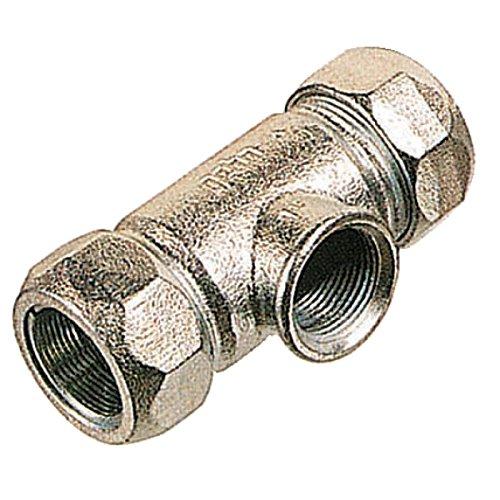 """Gebo Armaturen 01.150.04.02 Gebo Temperguss-Klemmverbinder T beidseitig zum Klemmen 26,9x26,9mm, 3/4"""""""