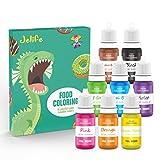 Abree Colorante Alimentario 8*11ml,Set de Colorante Liquid Alta Concentración para Colorear los Pasteles Galletas Macaron Fondant
