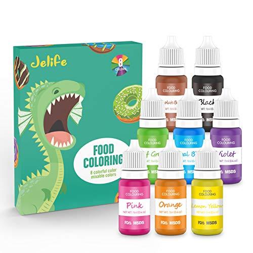 Lebensmittel Farben Flüssige Food Colouring Set für für Kuchen Getränken Backen DekorierenKoch & Backzutaten 8*11ml