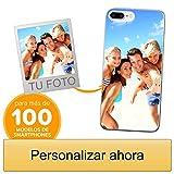 Funda Personalizada para Apple iPhone 7 Plus / 8 Plus con tu Foto, Imagen o Escritura - Estuche Suave de Gel TPU Transparente - Impresión