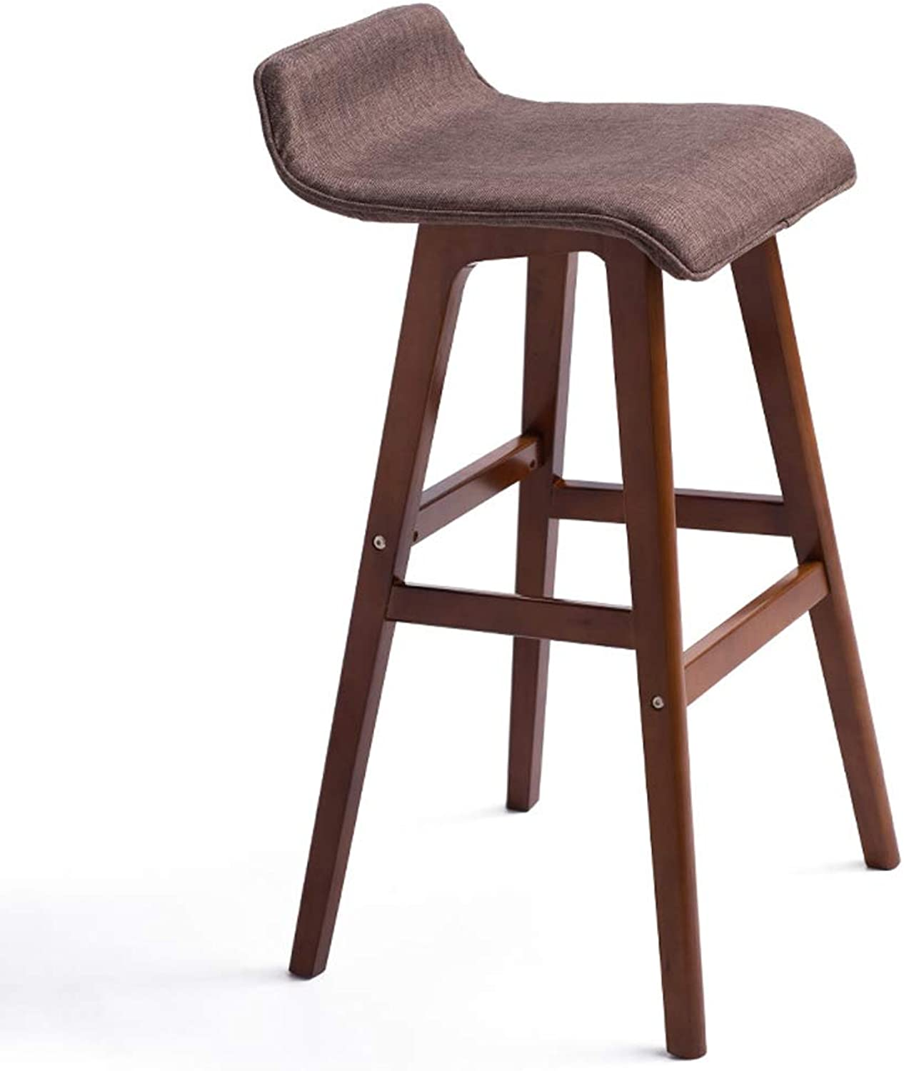 Ghjkl Bar Chairs Creative bar Chairs Simple Retro bar Stool high Stool -by TIANTA (color   Reddish Brown)
