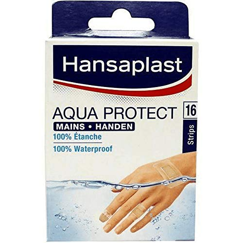 Hansaplast Aqua Protect Speciaal voor handen Waterdichte pleisters 16 stuks