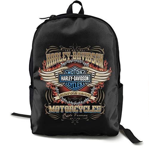N / A Harley Davidson Paket Klassischer Rucksack Schultasche Schwarze Tasche Arbeitsreise Zur Polyester Unisex Schule