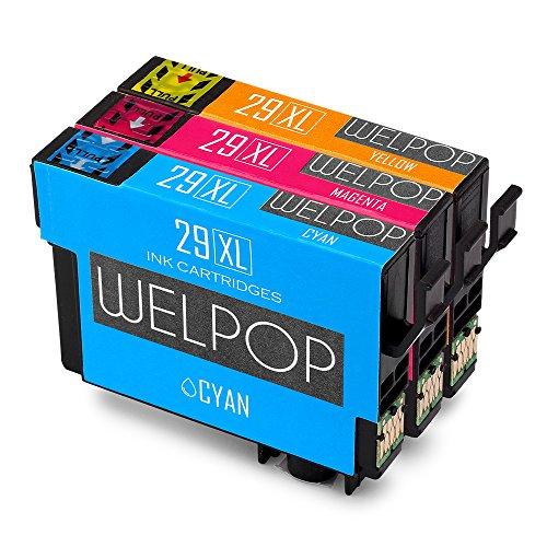 WELPOP Cartucce per stampanti ad alta velocità compatibili con Epson Expression Home XP-235 XP-335 XP-245 XP-432 XP-332 XP-247 XP-342 XP-435 XP-442 XP-345 XP-445 1 blu, 1 rosso, 1 giallo