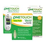 OneTouch Verio Brand Diabetes Testing Kit - Meter, Test Strips and Lancets