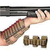 GVN 8 Rounds Gun Ammo Storage Shotgun Shell Holder Adjustable Shooters Forearm orTactical Buttstock Sleeve Magazine Pouch(Black/FDE) (FDE)