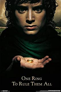 Picture Peddler Laminated Lord of The Rings Fellowship Frodo One Ring to Rule Them All Movie Poster Print 24x36 Inch