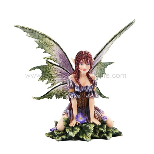 "New 2013 Amy Brown Fantasy Wild Violet Faery Mushroom Fairy Statue Enchanted 6""h Figurine"