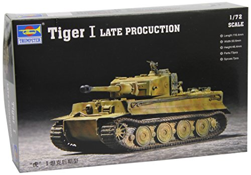 Trumpeter 07244 - Modellino carro Armato Tiger 1 in Scala 1:72