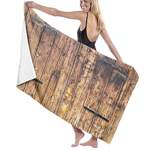ZOMOY Toallas de baño,de Playa,Tablones de Madera Antiguos en Tonos degradados con cerraduras Estilo casa de Campo,Muy Absorbente y Suave para Yoga, Fitness, Camping y Deportes al Aire Libre.