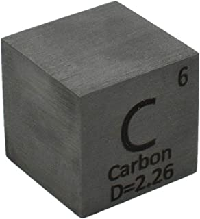 Carbon Cube 25.4mm Pure Graphite Block 1 Inch for Element Collection Lab Experiment Material Hobbies Simple Substance Bloc...