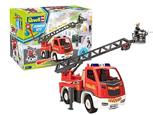 Revell 00823 Feuerwehr Leiterwagen mit beweglicher Drehleiter