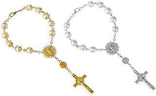 156f643c3213 Fontee® 2PCS Pulsera Catolica para Mujeres